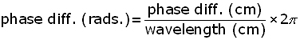 phase difference equation