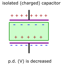 isolated capacitor