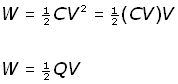 capacitor energy - equation #7