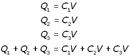 capacitors in parallel - equation #1