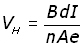 Hall Effect - equation #8