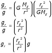 g at distance r - equation #10