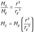 mass of the earth - equation #14