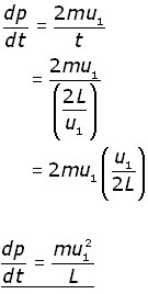 rate of change of momentum equation