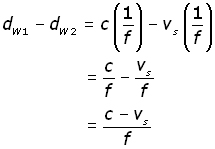 doppler effect derivation -equation #4