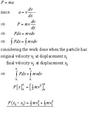 Work & Energy, Mechanics - from A-level Physics Tutor